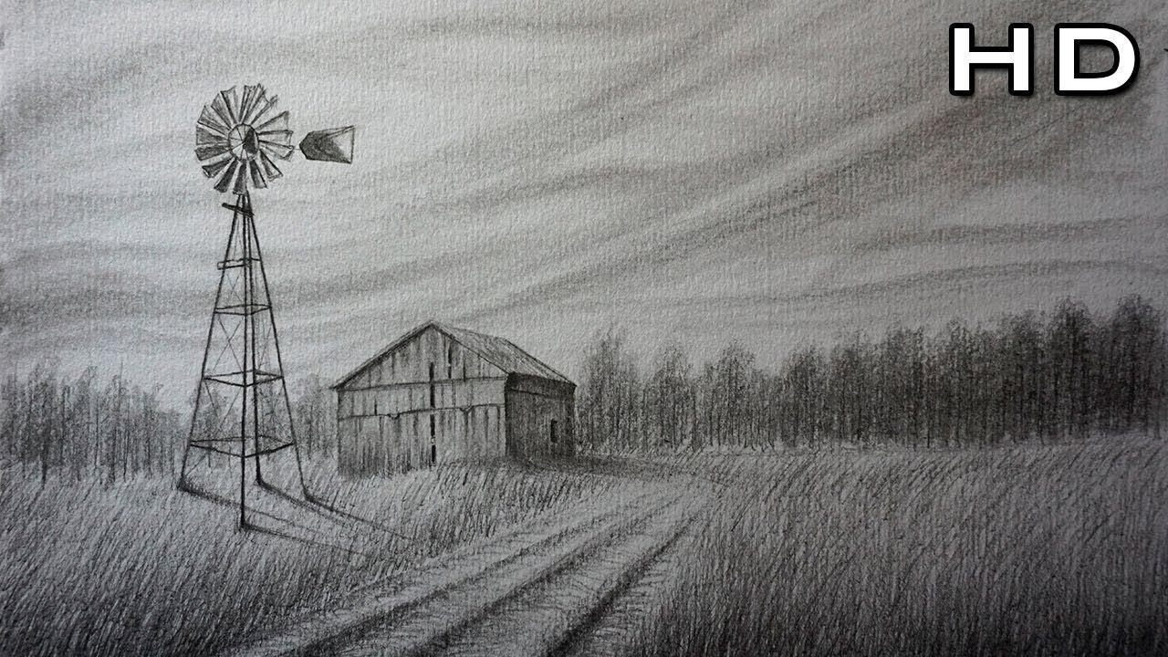 Como Dibujar Un Paisaje De Campo Facil Y Bonito A Lapiz Paso A Paso Paisaje A Lapiz Paisajes Dibujos Dibujo De Casa