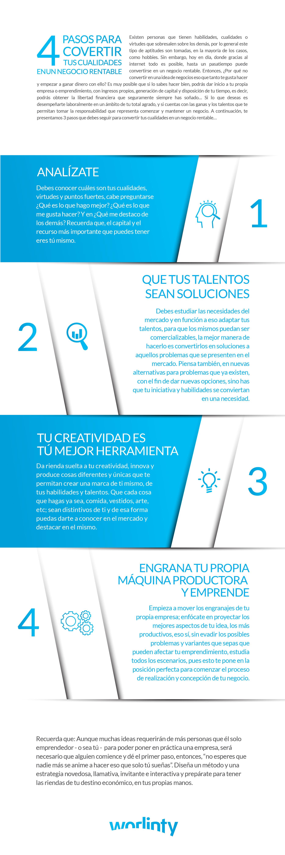 4 pasos para convertir tus cualidades en un negocio rentable  #infografia #infographics