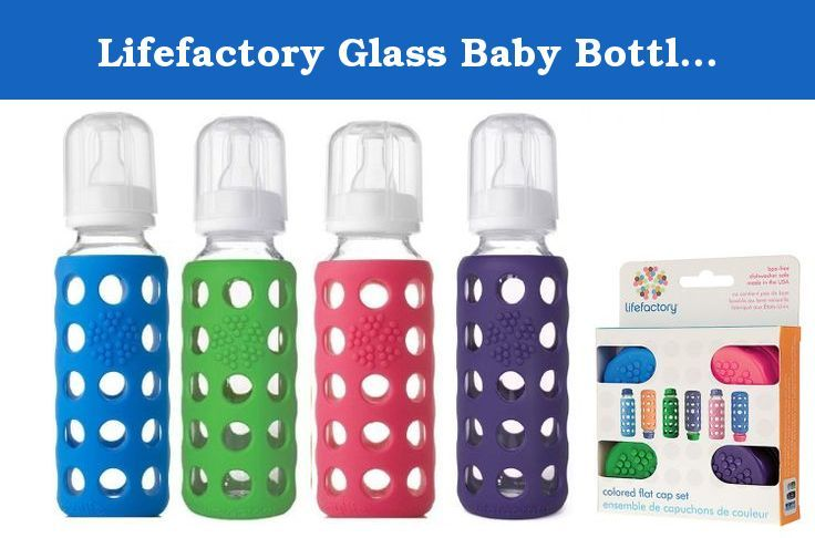 Lifefactory Glass Baby Bottles 4 Pack 9 Oz With Matching Colored Caps Wee Go Glass Baby Bottles By Lifefactory Glass Baby Bottles Glass Babies Baby Bottles