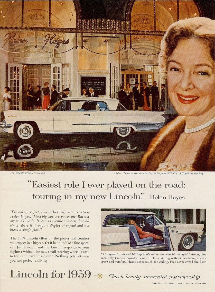 1959 Ford Lincoln Premiere Coupé.