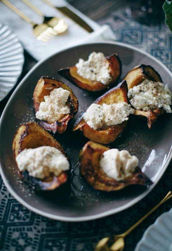 Roasted Acorn Squash From Www Whatsgabycooking Com Stuff It With