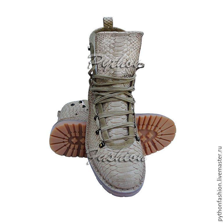 fce3263ef296 Купить Дизайнерские ботинки из кожи питона TIMBERLAND - кожа питона ...