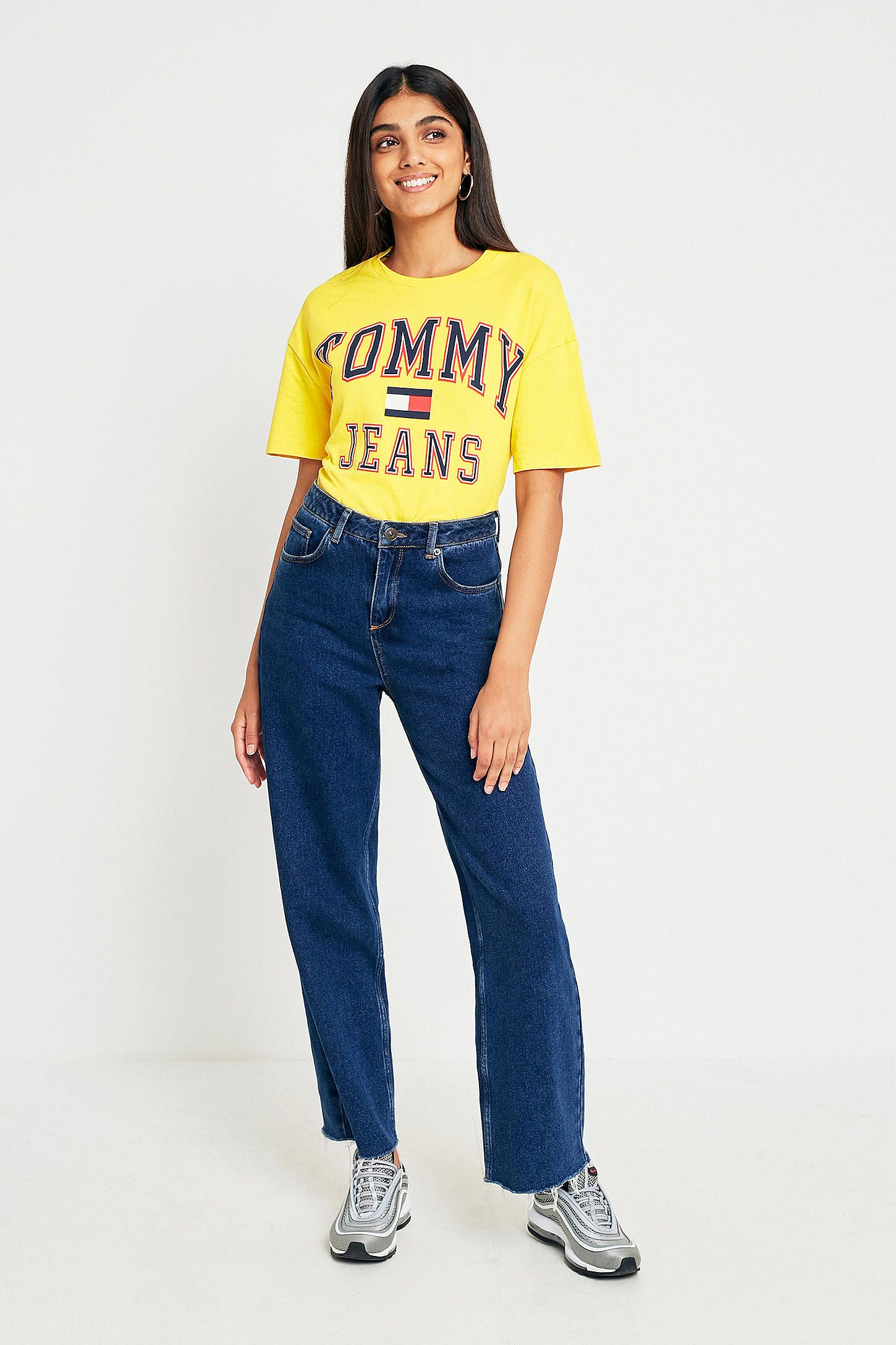 565e03aa706 Tommy Jeans  90s Yellow Logo T-Shirt