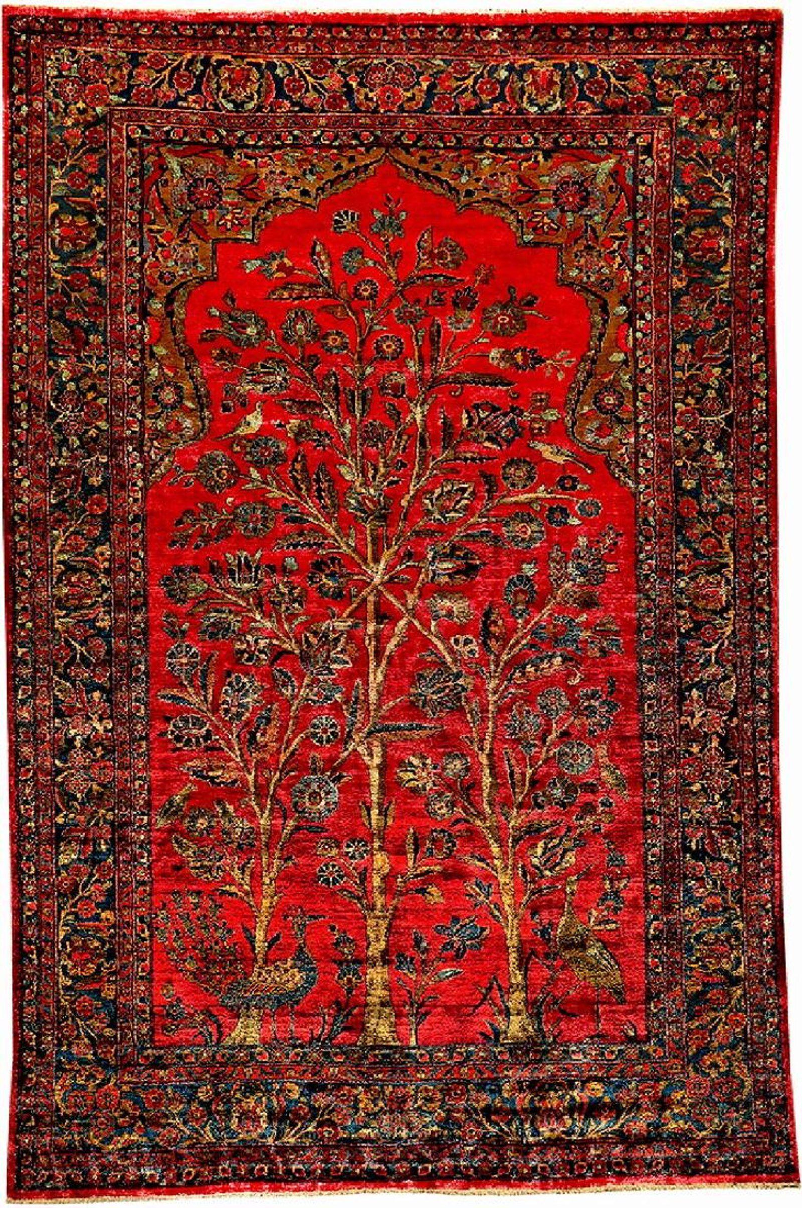 Fine Silk Kashan Rug Tree Of Life Jun 09 2018 Henry S Auktionshaus Ag In Germany Kashan Rug Rugs Antique Carpets