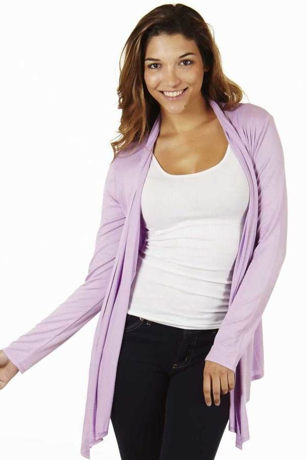 Lilac Colored Waterfall Cardigan | Lilac color and Lilacs