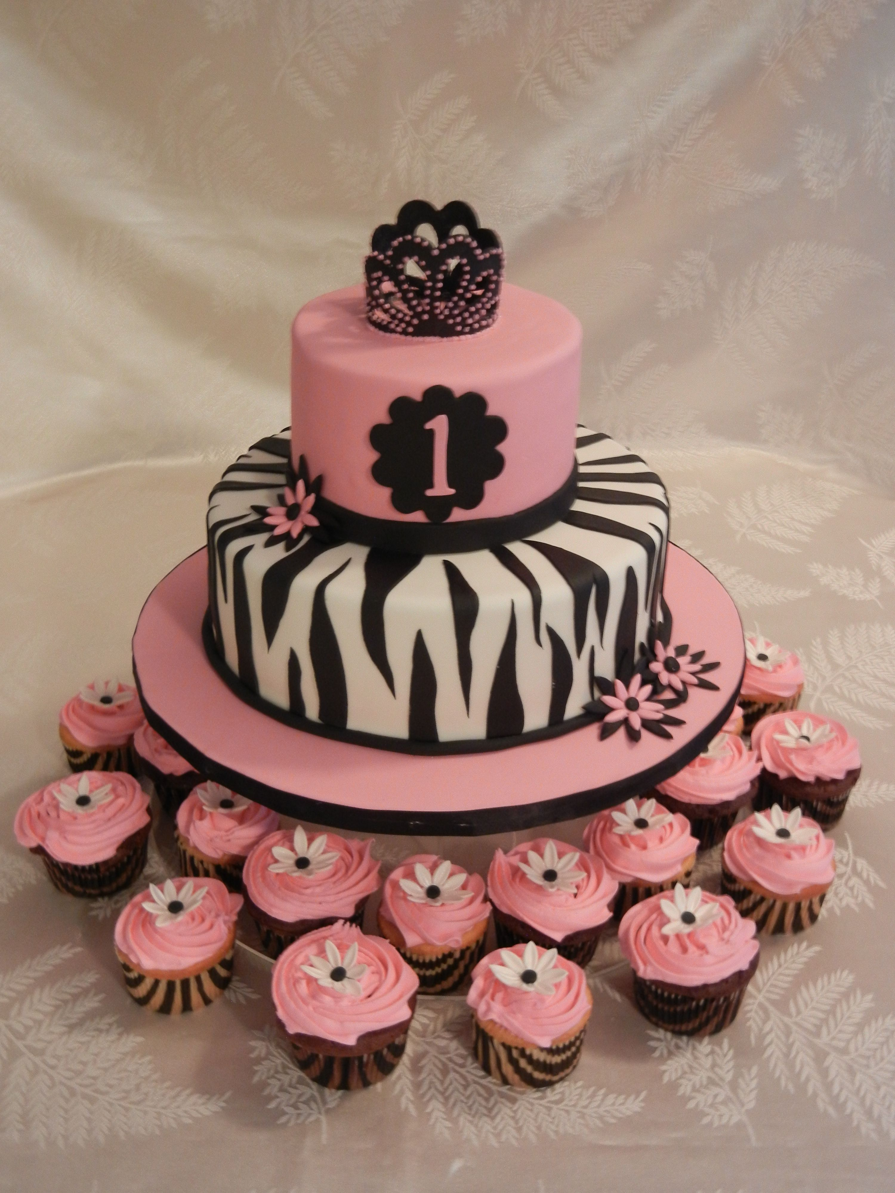 little girl birthday zebra cake Hot pink and Zebra themed cake