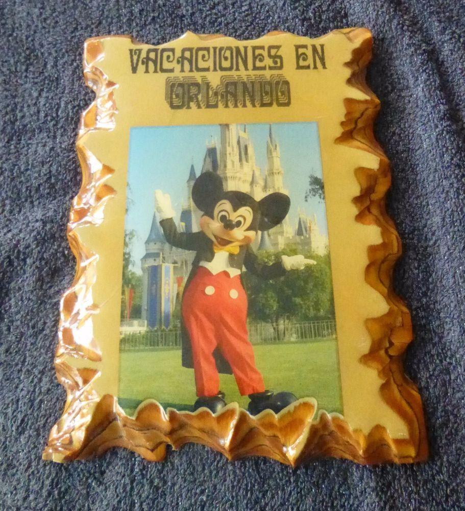 Disney Mickey Mouse Vacaciones En Orlando Wall Hanging Wooden Plaque ...
