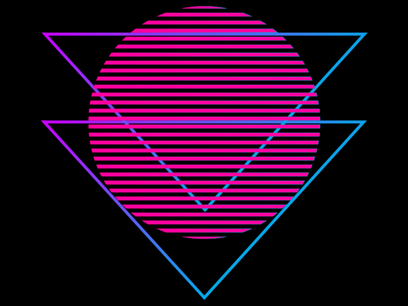 Synthwave Neon Sun With Triangle On Dark Background Synthwave Neon Synthwave Neon