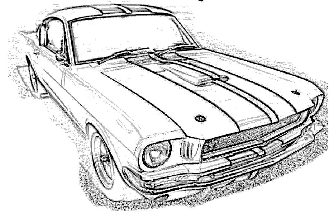 mustang gt 350 coloring page