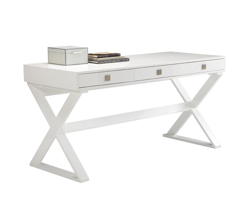 Emilio Desk High Gloss White High Gloss White Desk White Desks White Desk Design
