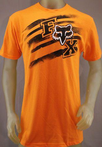 da9d3853fb Fox Racing orange T-shirt with black & white logo | Men's shirts ...