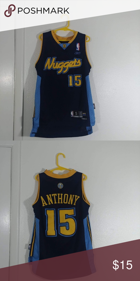 42cb03095 Youth Denver Nuggets Carmelo Anthony Jersey Size - Youth Small (Runs  Bigger) · 9 10 Condition Reebok Shirts   Tops Tees - Short Sleeve