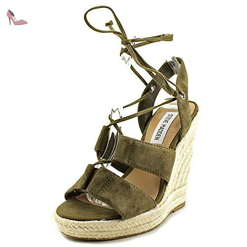 b16a01bac8d Steve Madden Prize Femmes US 8.5 Vert Sandales Compensés - Chaussures steve  madden ( Partner