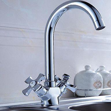 svingtud forfængelighed vask blandingsbatteri to håndtag Vandhane Køkken badeværelse bækkenet vandhane