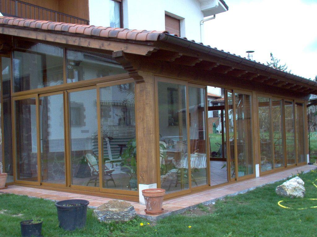 Porches de aluminio y madera aluminios no in gar s - Porches de madera y cristal ...