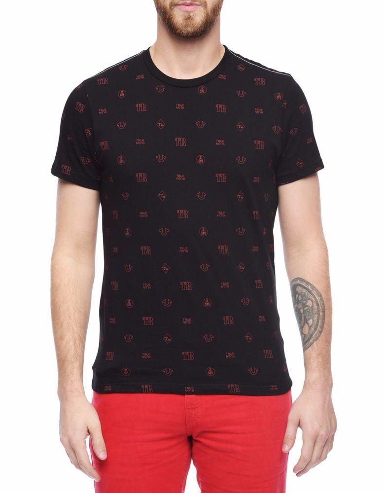 94fa26ecc7a2 NWT TRUE RELIGION Monogram Black Red Short Sleeve Logo Crew T-shirt S,M,L,XL,2XL  | Clothing, Shoes & Accessories, Men's Clothing, T-Shirts | eBay!