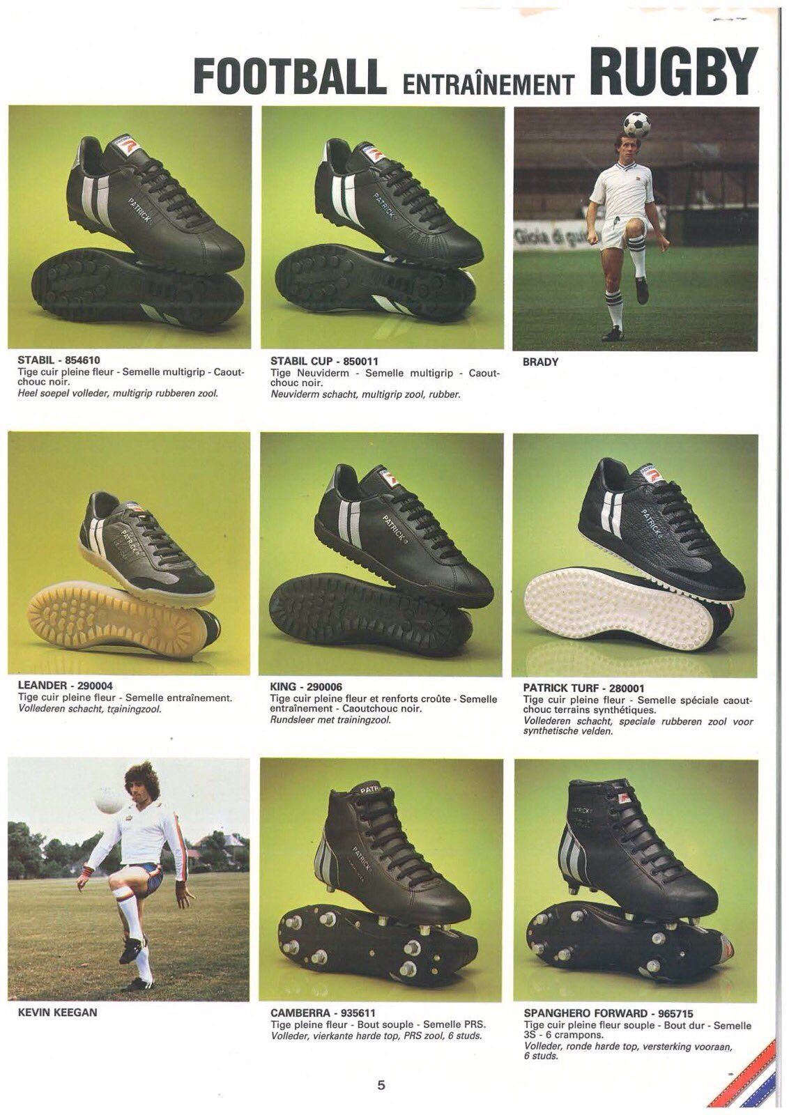 26357100a 1983 Patrick Catalogue Pages Soccer Boots