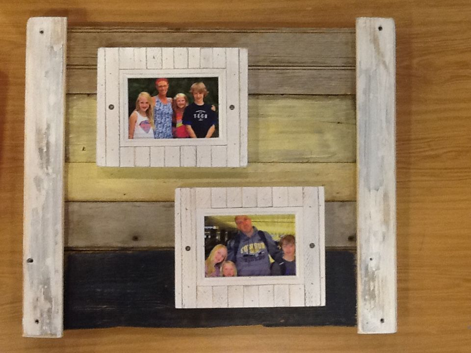 All Chesapeake Bay Driftwood For The Frame Added The Photo Frames From Michaels Frame Wood Planks Picture Frames