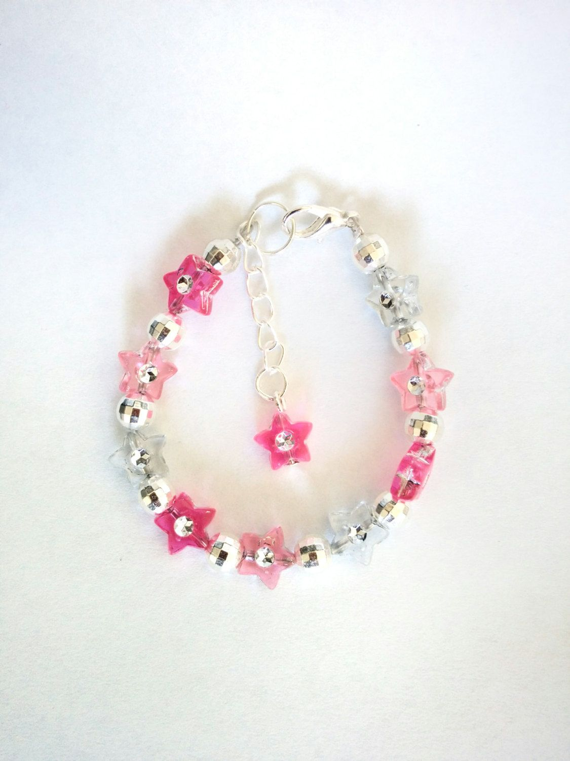 Girls pink bracelet girl jewelry kids bracelet toddler