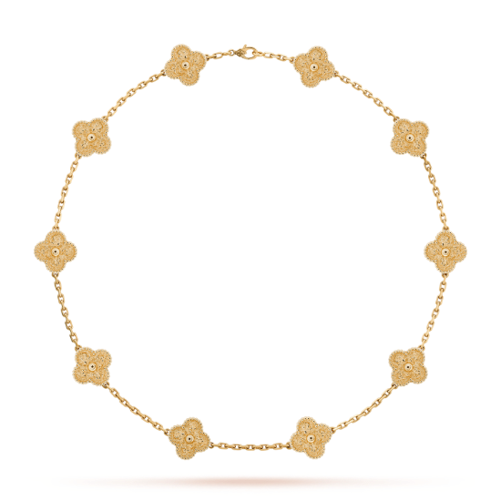 Vintage Alhambra Necklace 10 Motifs Vcaro1id00 Van Cleef Arpels Van Cleef And Arpels Jewelry Alhambra Pendant Vintage Diamond Jewelry
