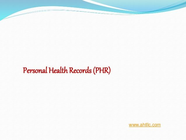 To Know More About Personalhealthrecords Phr View This Slide