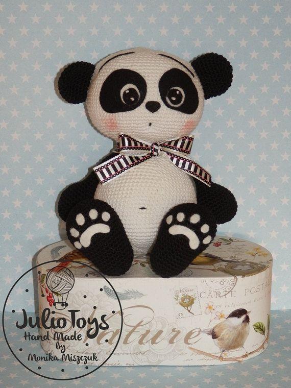 Panda patrón de oso de peluche de ganchillo PDF por JulioToys ...