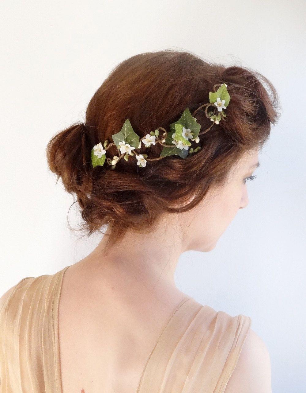 ivy hair clip bridal hair vine flower hair vine ivy hair accessories