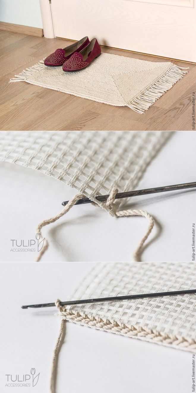 Carpet Knitting Crochet Canvas...♥ Deniz ♥ | Tapetes | Pinterest ...