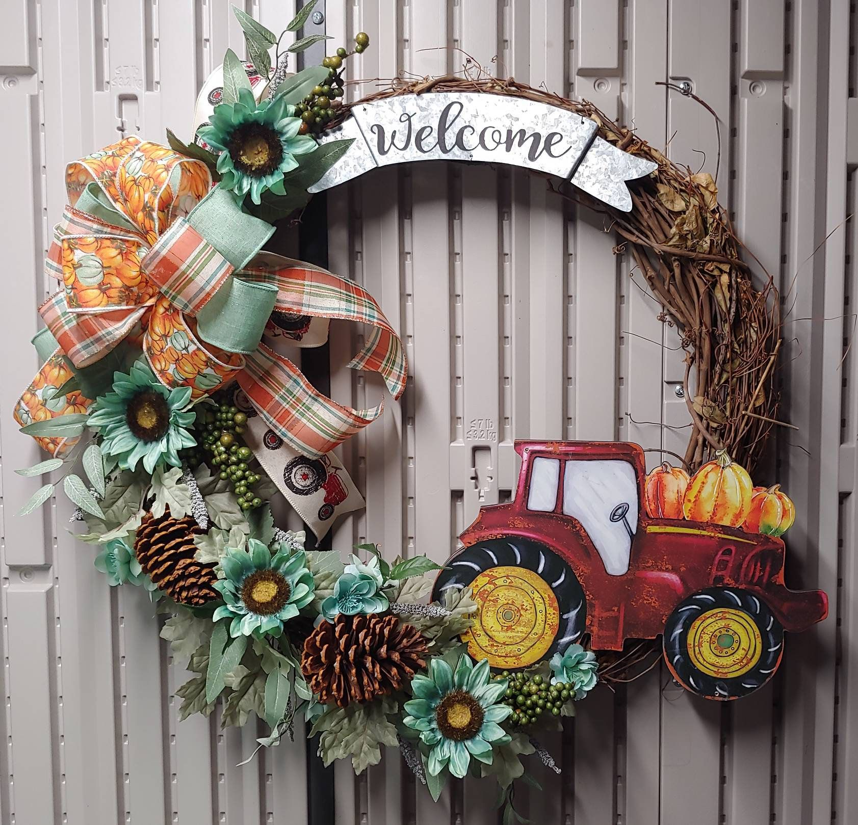 Warm Cozyhouse: Front Back Door Wreaths Welcome Grapevine Thanksgiving