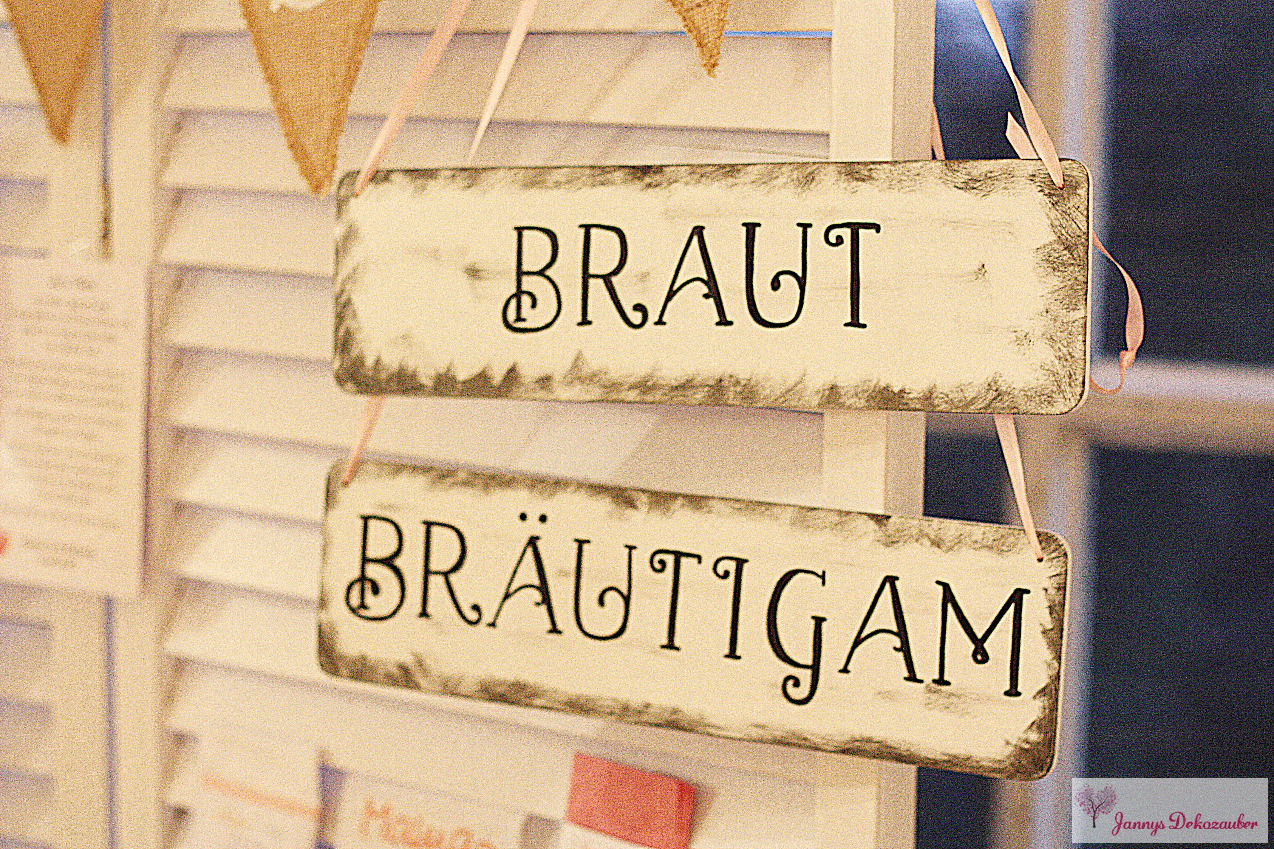 Holzschild Braut Bräutigam Hochzeit Hochzeitsdeko Schilder ... Gelbe Sthle Passen Zu Welcher Kche