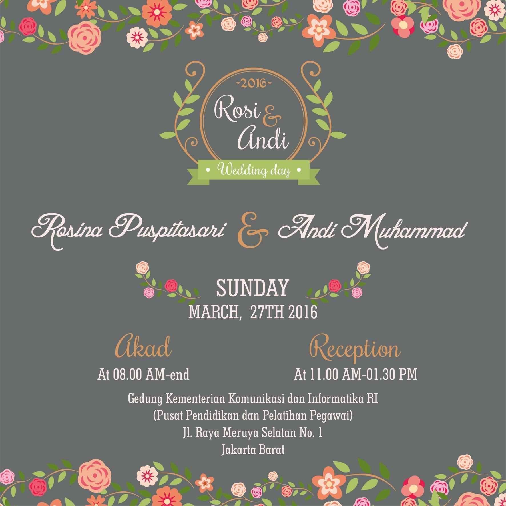 Online Wedding Invitation E Invitation Wedding Inviation Desain Undangan Perkawinan Undangan Pernikahan Undangan Perkawinan