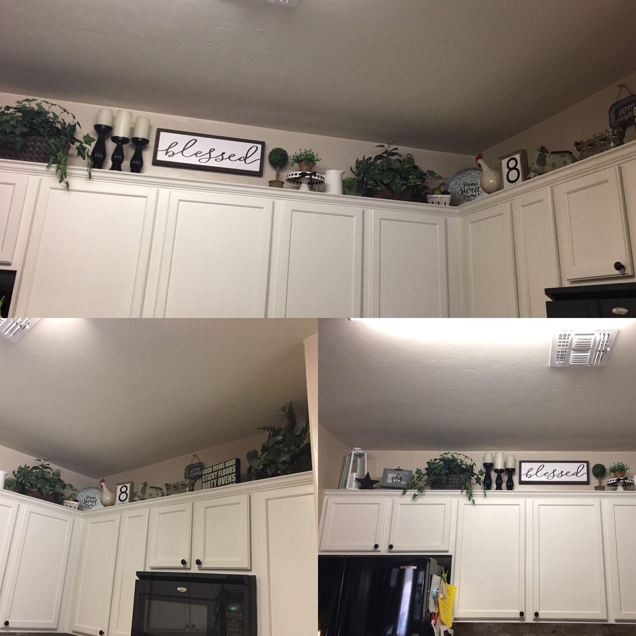 Kitchen Soffit Decor Ideas: Above The Kitchen Cabinets #WallDecorIdeasMinimalist