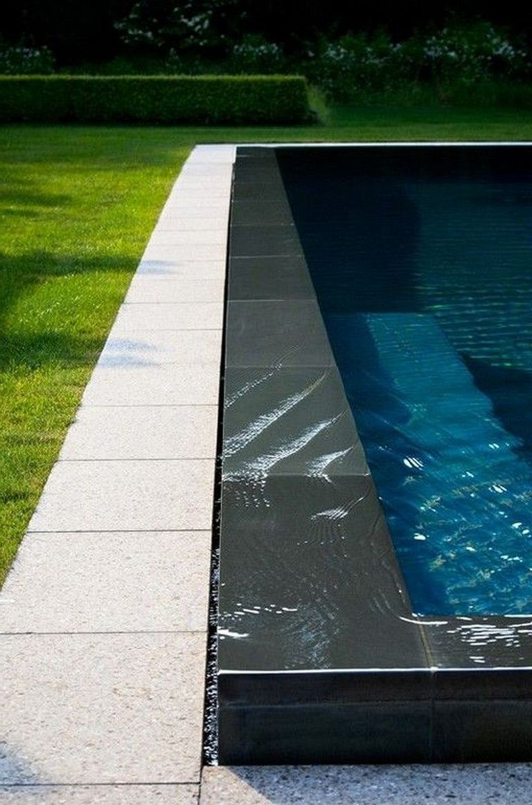 21 Amazing Modern Black Tile Design Ideas Swimming Pool Pool Tile Swimming Pool Tiles Cool Pools