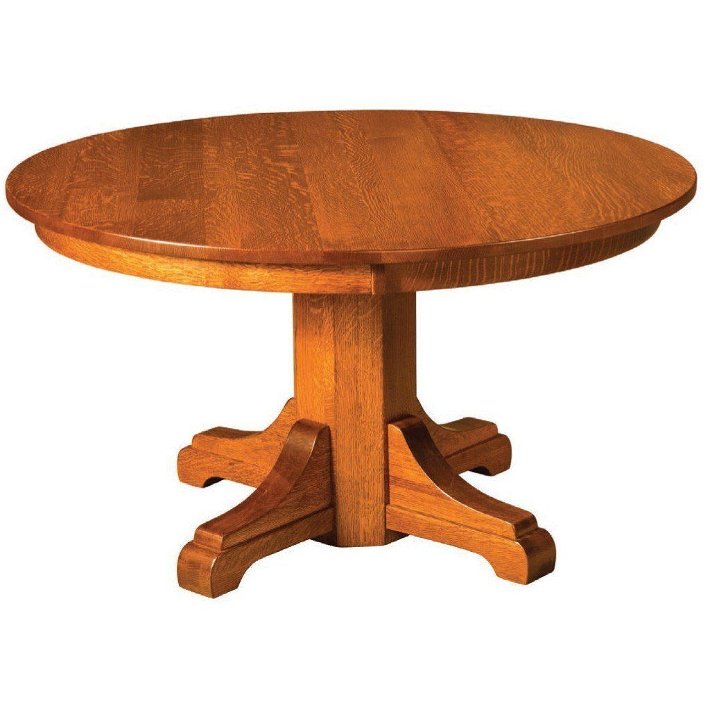 Monteray Split Pedestal Extension Table Maple Dining Table