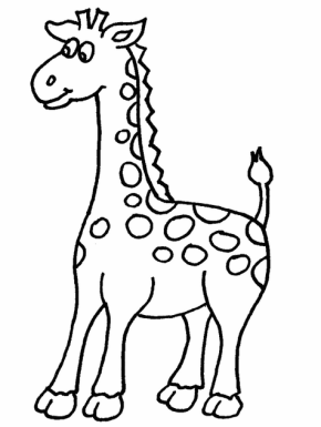 Simple Coloring Pages For Felt Name Books Animal Coloring Pages Giraffe Coloring Pages Cute Coloring Pages