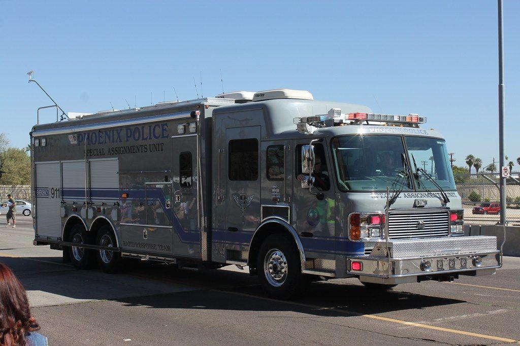 Az Phoenix Police Dept Emergency Vehicles Rescue Vehicles Police Dept