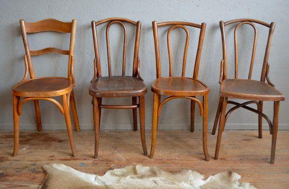 Chaises Bistrot Thonet Baumann Vintage Rtro N56 Bois Courb Ensemble Dpareill Belle Epoque French Furniture Coffee Chairs 1930