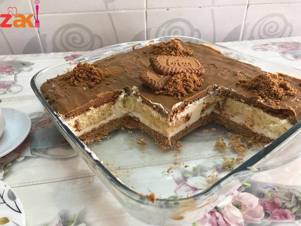 طريقة طبقات حلى اللوتس زاكي Cake Recipes Sweets Recipes Desserts