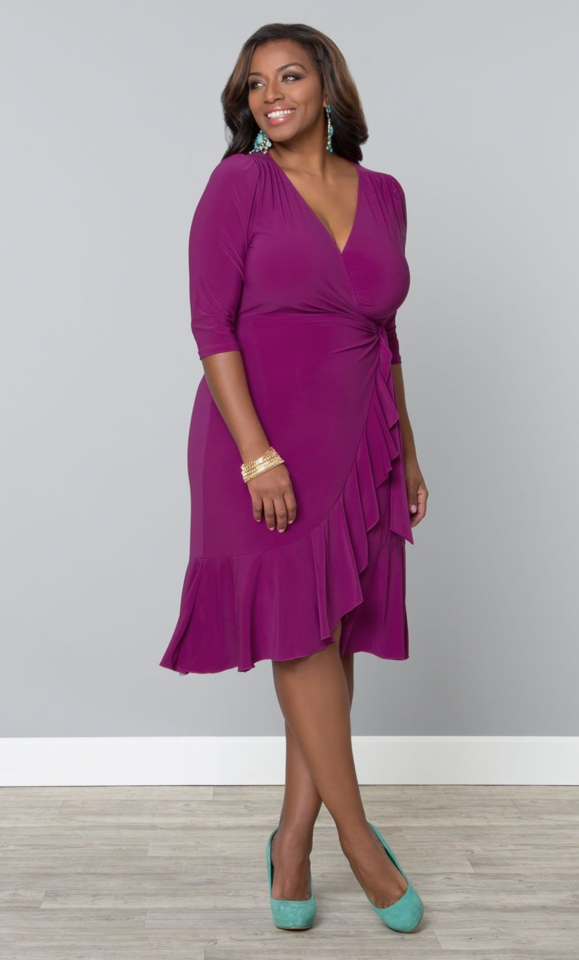 136172bda4e3 Check out the deal on Whimsy Wrap Dress at Kiyonna Clothing - this dress is  perfect
