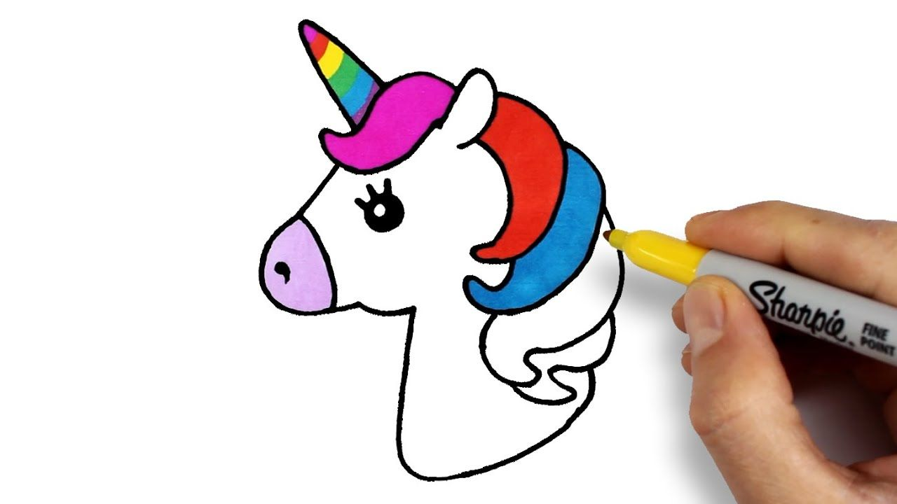 Unicorn Drawing And Coloring How To Draw Unicorn Tek Boynuzlu At Nas Drawing Tekboynuz Animasyon