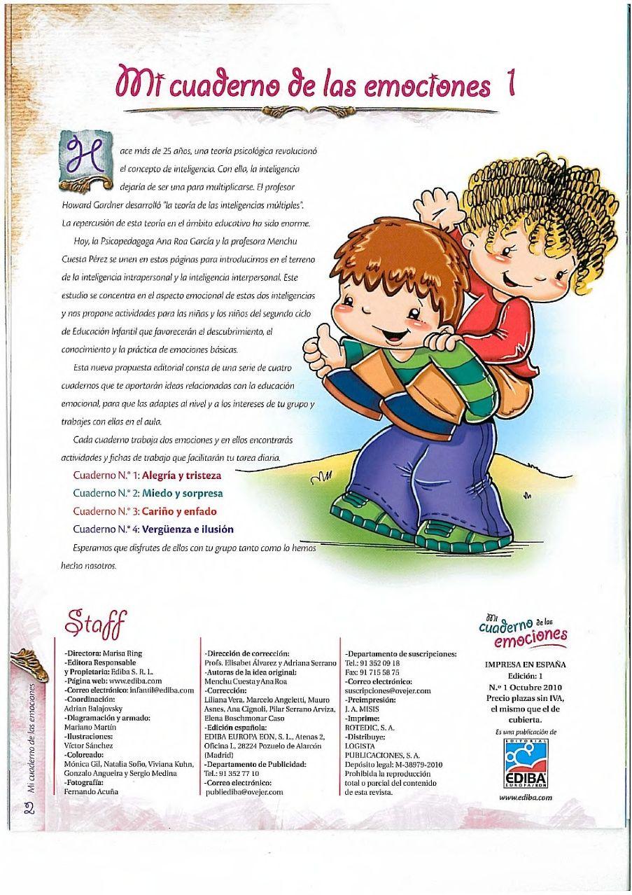 cuaderno emociones | EDUCACIÓN EMOCIONAL | Cuentos ...