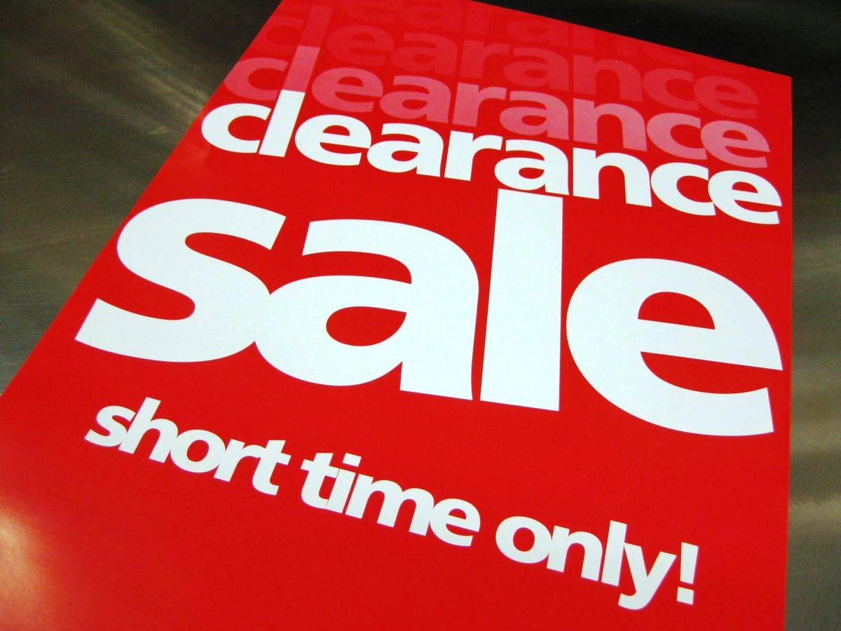 cc16269e2 Clearance Clearance Clearance Sale...