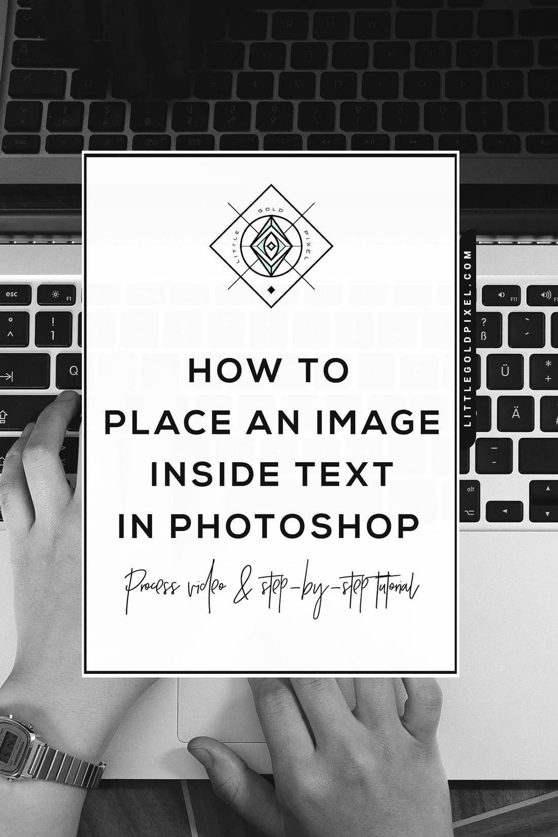 How to Put an Image Inside Text in • Little Gold