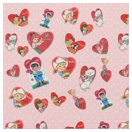 Vintage Valentines Fabric Valentines Day Gifts Love Couple Diy