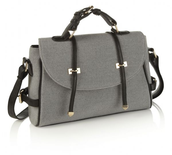 Felt Satchel Bag - Grey £26.95 This beautiful soft touch felt ...