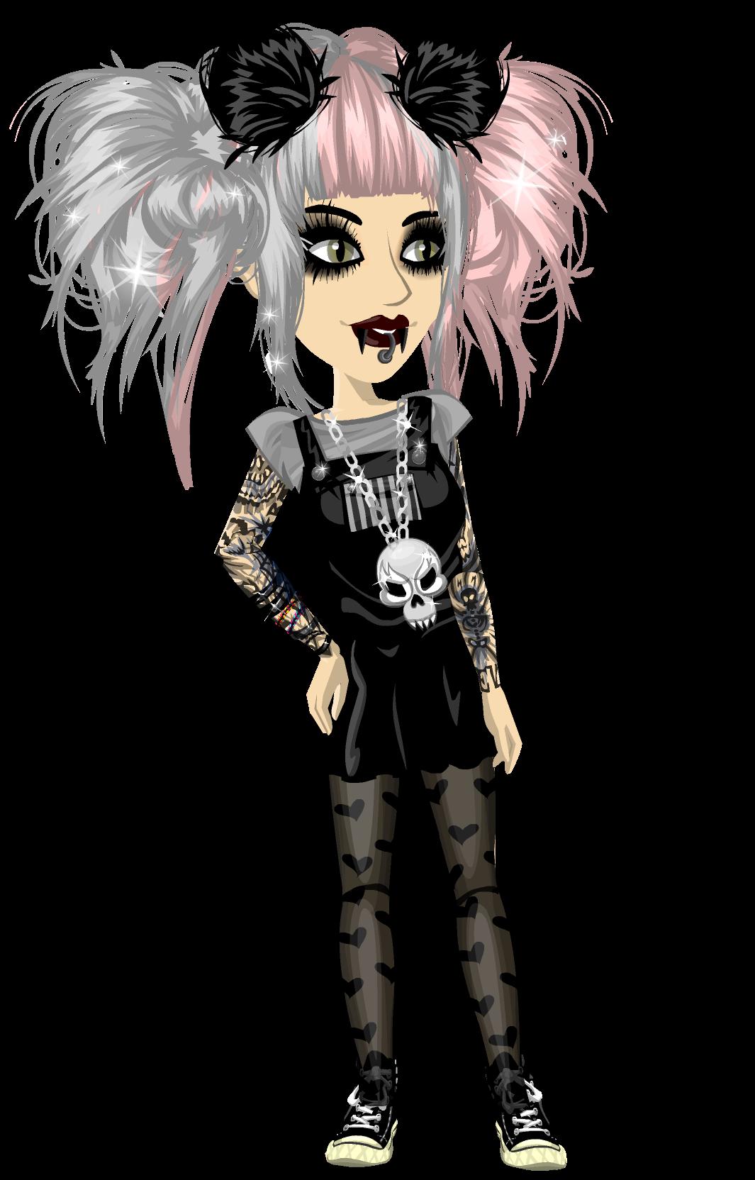 pastle goth Goth, Anime