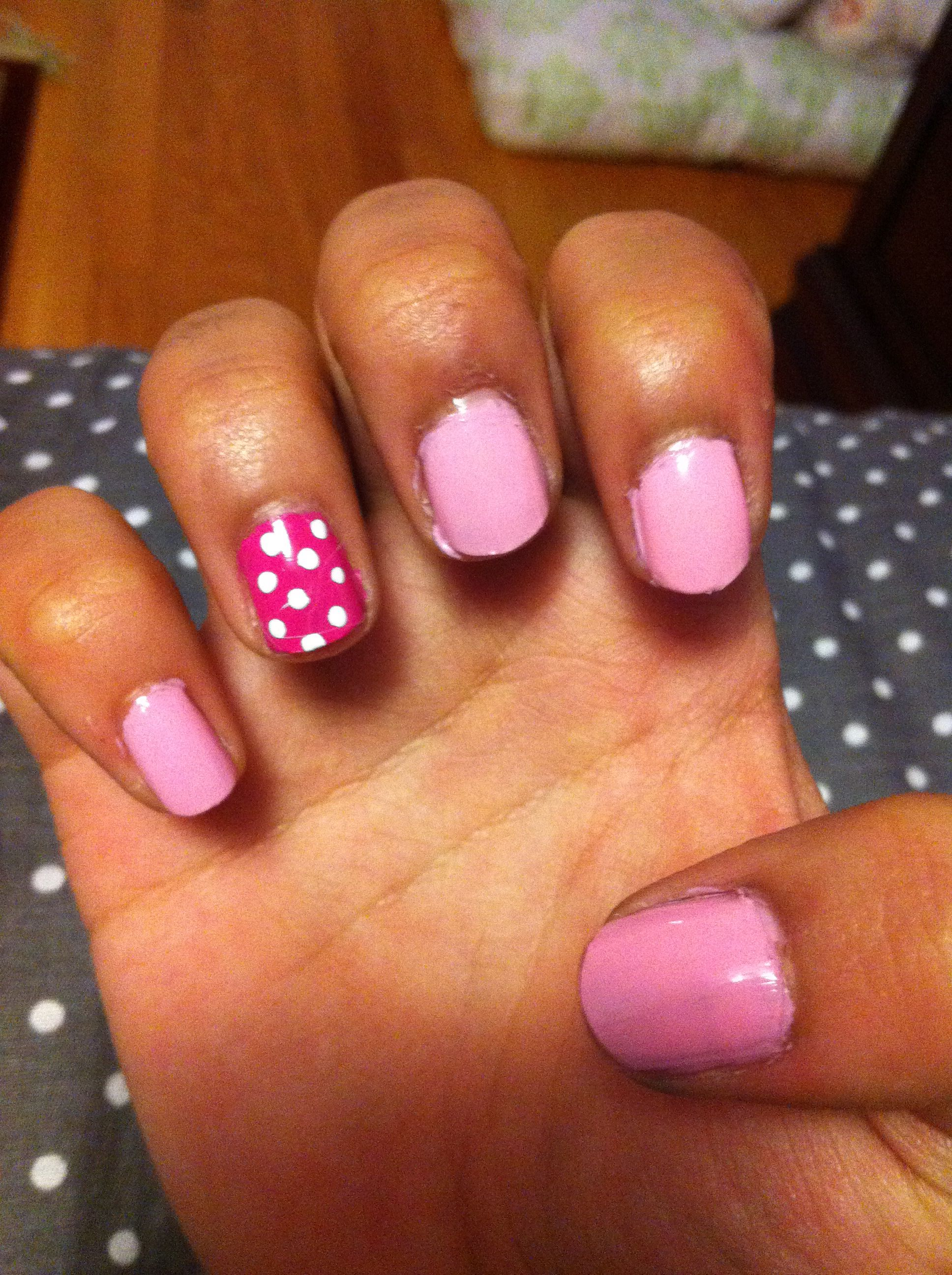 Polka dotted pink