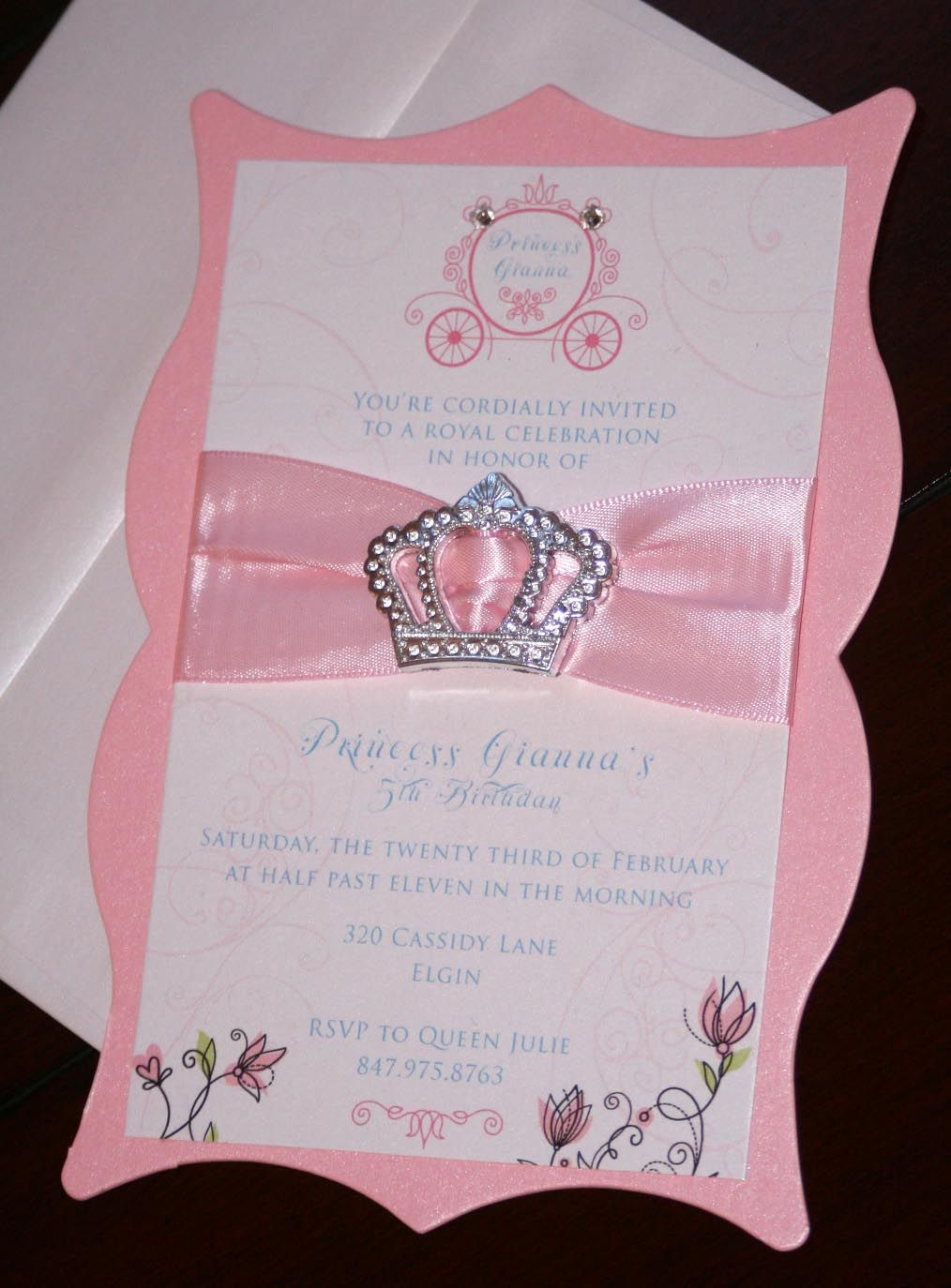 diy princess birthday invitations Princess Birthday 3 – Diy Girl Birthday Party Invitations