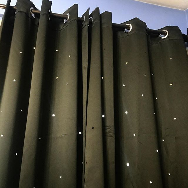My New Bedroom Curtains Have Tiny Stars Cut Out Of Them