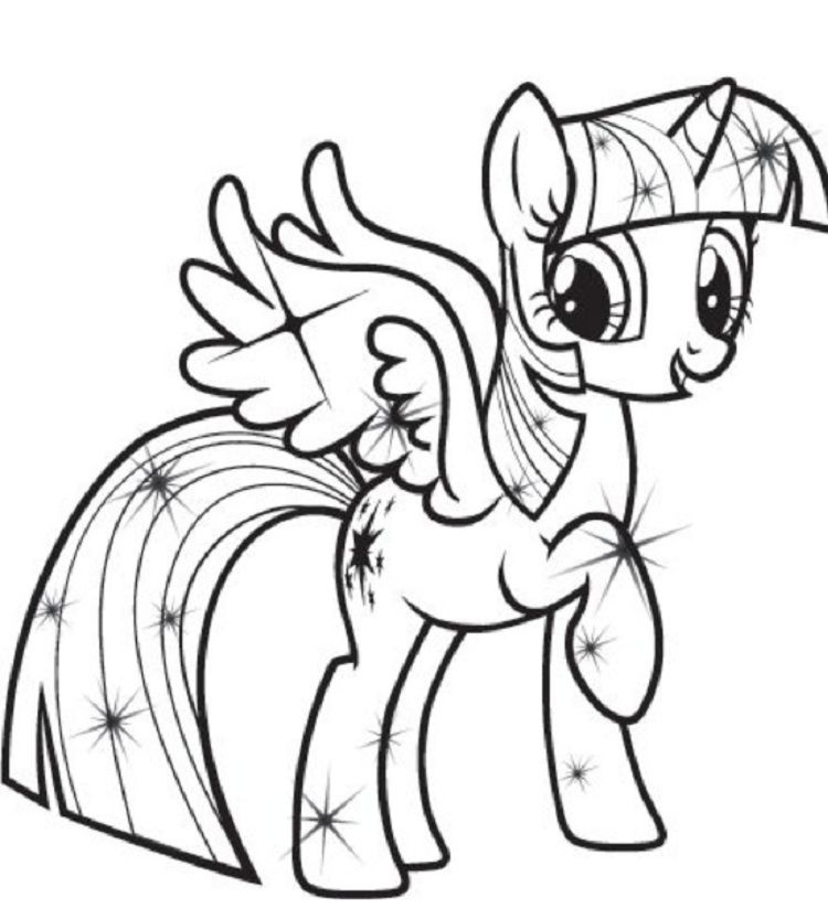 my little pony coloring pages princess twilight sparkle | Coloring ...